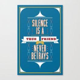 Silence Is Canvas Print