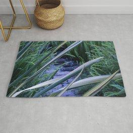 Tropical Leaf Swords Protecting Secret Pathway Rug