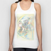 zodiac Tank Tops featuring Zodiac - Aquarius by Hellobaby