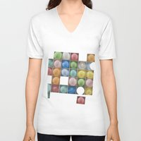 balloons V-neck T-shirts featuring Balloons by Mary Kilbreath