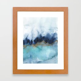 Mystic abstract watercolor Framed Art Print