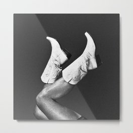 These Boots - Noir Metal Print