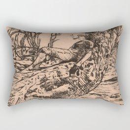 Pipes and Contemplation Rectangular Pillow