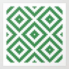 Green Aztec Art Print