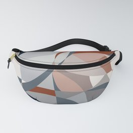 Navy and Rust (XIV) Abstract Fanny Pack