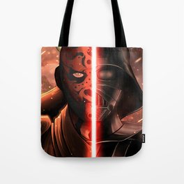 Darth Maul & Vader split Tote Bag