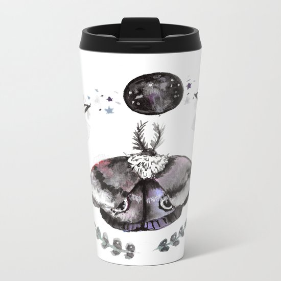 Midnight Moth Metal Travel Mug