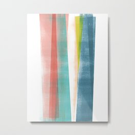 Colorful Geometric Abstract Minimalist Monotype Metal Print