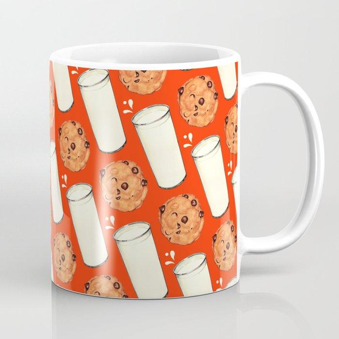 Milk & Cookies Pattern - Red Coffee Mug
