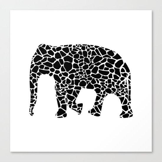 Elephant with giraffe print Canvas Print