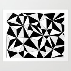 Geo - gray, black and white. Art Print