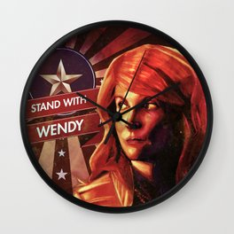 Stand With Wendy Wall Clock