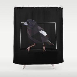 Colorado – Lark Bunting (Black) Shower Curtain