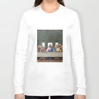 da vinci Long Sleeve T-shirts featuring The Last Supper by Leonardo da Vinci by Palazzo Art Gallery