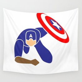 Simple Cpt America Wall Tapestry