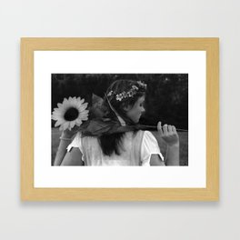 Not a Care Framed Art Print