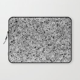 Black and White Floral Laptop Sleeve
