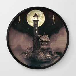 Lighthouse Ghosts Wall Clock