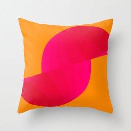 Sliced Sphere on Orange Throw Pillow