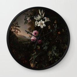 "Matthias Withoos ""Still Life"" Wall Clock"