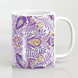 Gloomy purple mandala pattern Coffee Mug
