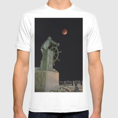 Lunar Eclipse MEDIUM White Mens Fitted Tee
