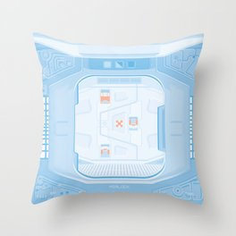 Airlock - Alien (1979) Throw Pillow