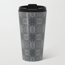 Sharkskin Geometric Floral Travel Mug
