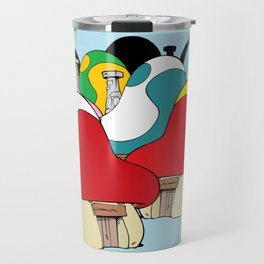 smurf village Travel Mug