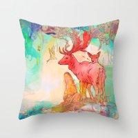 archan nair Throw Pillows featuring Rebirth by Archan Nair
