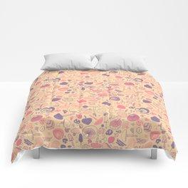 Vintage Mushroom Pattern Comforters