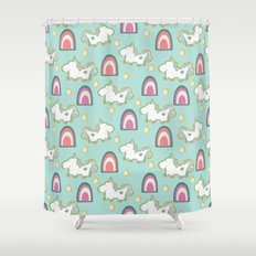 Cereal for Dinner - Unicorns Shower Curtain