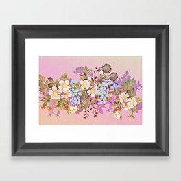 Sweet pastel pink flowers Framed Art Print