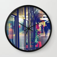 subway Wall Clocks featuring subway. by zenitt