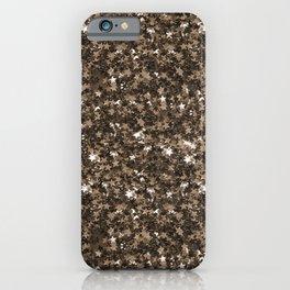 Golden bronze shimmering stars iPhone Case