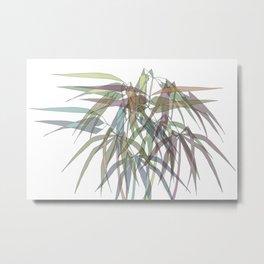 Bamboo Leaves - Multycolor Metal Print