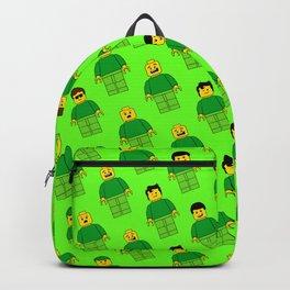 Building Blocks People, Green Brick Characters Backpack