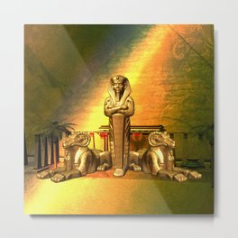 Anubis, the egyptian god Metal Print