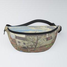 """Camille Pissarro """"Maisons sur un coteau, hiver, environs de Louveciennes"""" Fanny Pack"""