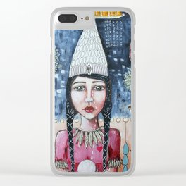 Profit Over Humanity Clear iPhone Case
