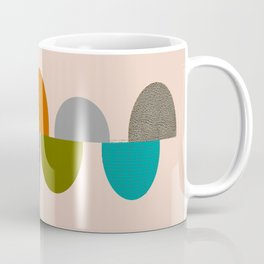 Mid-Century Modern Ovals Abstract Coffee Mug