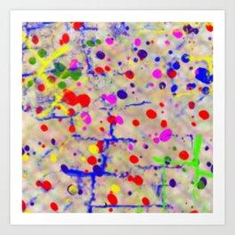 blooding eyes colorful spot lasoffittadiste Art Print