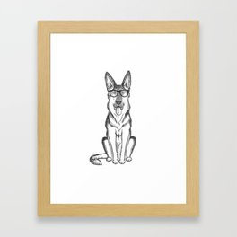 German Shepherd Dog Framed Art Print