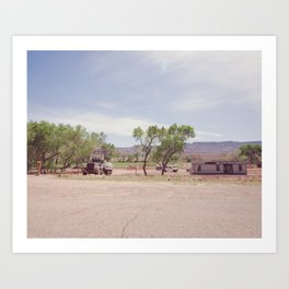 Truck and Helicopters Art Print