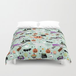 Schnauzer dog breed halloween costumes cute dog gift for fall autumn Duvet Cover