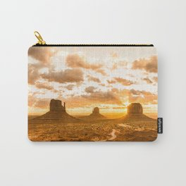 Southwest Wanderlust - Monument Valley Sunrise Nature Photography Carry-All Pouch