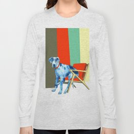 Great Dane in Chair #1 Long Sleeve T-shirt