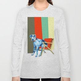 Great Dane in Chair #1 Long Sleeve T-shirt
