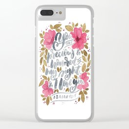Isaiah 43:4 Clear iPhone Case