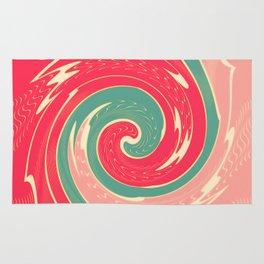 Big red wave Rug